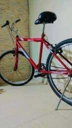 Bike Vermelha Quadro Reto Aro 26