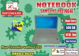 Notebook Samsung Np270 Dual Core HD500GB/04GB Memoria/Garantia