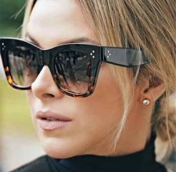 Óculos luxo tendência ( lentes degradê)