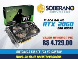 Placa de Vídeo Galax RTX 2060 6GB - Lacrada com 3 Anos de Garantia