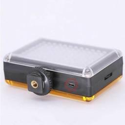 Iluminador Luz Led 96 Video P Camera Dslr Canon Nikon Sony Com Bateria