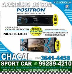 Título do anúncio: Rádio para carro (produtos novos e com nota fiscal) serviço grátis de colocação