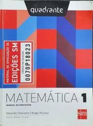 Quadrante - Matemática 1 - Manual do professor - Editora SM<br><br>Livro em ótimo estado