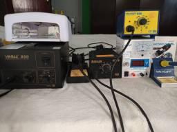 Equipamentos para manutenção de celular e notebook