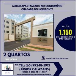 Alugo apartamento 2 quartos no condomínio Chapada dos Horizontes