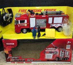 Carrinho de bombeiros com controle remoto Novo Entregamos