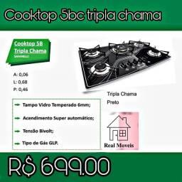 Fogão cooktop acendimento automático