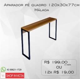 Aparador Home Office Málaga Pé Quadro 120x30x77cm / Nova / NFE