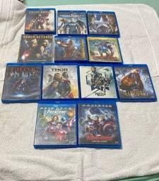 Blu Ray Coleção: Filmes Vingadores, Homem de Ferro, Thor, Capitão América