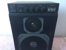 Cx de som acústica amplificadora