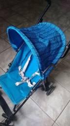 Carrinho de bebê Chicco azul (usado)