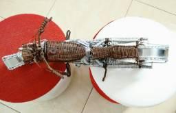 Moto feita fio de Alumínio + Cobre