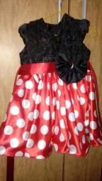 Vestido da minie usado uma unica vez lembrando que bai com a tiara