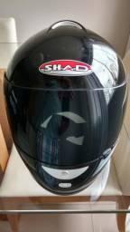 Capacete SHAD M 580 - preto brilhante - muito novo (apenas venda)
