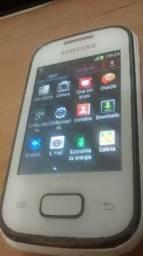 Celular 2chip samsung pocket plus gt-s5303b android 4,1 entrada cartão em perfeito estado