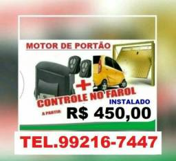 Motor+Controle no Farol Instalado No Portão com( 02anos de Garantia )