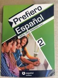 Livro Prefiero Español vol 2 SEMINOVO + Dicionário espanhol Santillana NOVO