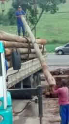 Postes de eucalipto tratado madeira de demolição