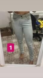 Calças jeans ARRASTE P O LADO