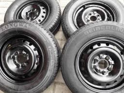 Roda 13 Fiat P.A.L.I.O ,uno Fiorino +Pneus Meia vida 399,00 ac/13,14,15