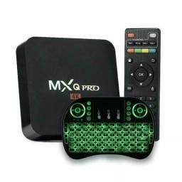 Tv box Mxq Pro 4k 3gb ram/16gb, Android 8.1 converte tv comum em Smart Tv NOVO na Caixa