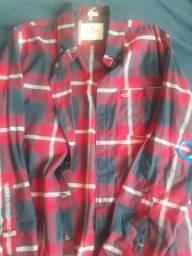 Camisa M manga longa HOLLISTER