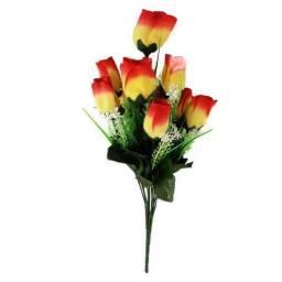 Buquê Arranjo De Flores Tulipa Em Tecido A Unidade 40 Cm