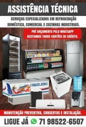 Assistência técnica, consertos e instalação de ar condicionado