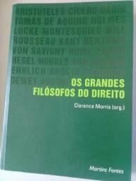 Livro de Direito, Os Grandes Filósofos do Direito. Semi-novo. Itajai