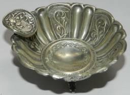 Par De Antigos Cinzeiros Em Prata De Lei 900! 81 Gramas de Prata