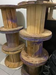 Mesa bobina carretel de madeira