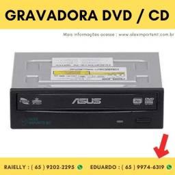 Gravadora Sata Dvd e Cd Preto Asus Drive - Drw-24F1St/Bl Gravador de Cd