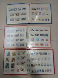 Coleção de selos estrangeiros - 3 álbuns