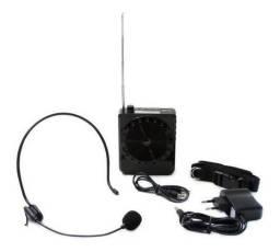 Kit Aula Professor Voz Microfone Megafone Amplificador Bq810