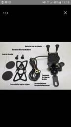 Suporte Garra com Carregador USB para motos