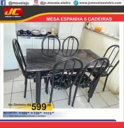 Mesa espanha 6 cadeiras