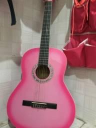 Violão Giannini rosa