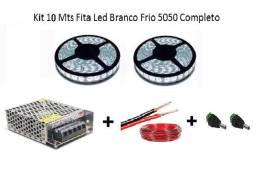 Kit 10 Metros Fita de Led Branco Completo para Sanca