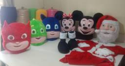 Fantasia Mickey Minnie Papai Noel Pj Masks
