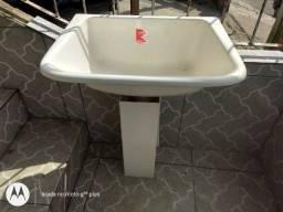 Tanque Novo para Lavar Roupa Mármore Sintético Decoralita Branco
