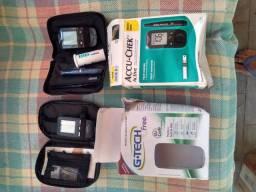 Aparelhos para medir glicose.