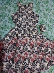 Vestido tecido Piquet