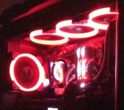 4 fans cougar led vermelho