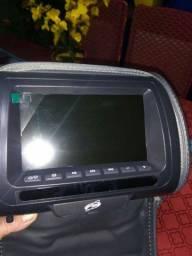 Par encosto de cabeça tela DVD 7 polegadastodos os veículos