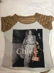 Blusa Love Chloé