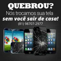 Título do anúncio: troca de display Iphone a domicilio