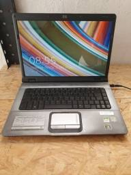 Notebook HP Pavilion 4g RAM 15 pol com detalhes