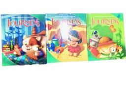 Kit para ensinar inglês para crianças, nunca usado Journeys grade 1 vol 1, 2 e 3