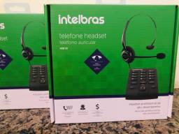 Telefone Intelbras Headset Base Discadora Hsb 50 No cartão até 3 vezes sem juros