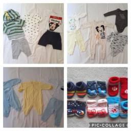 Kit roupas bebê de 0 à 3 meses